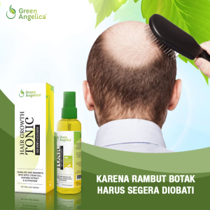 hair tonic penumbuh rambut, penumbuh rambut botak cepat, green angelica